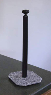 Paper Towel Holder, Black Spindle