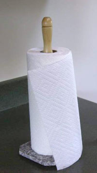 Paper Towel Holder, Wooden Spindle